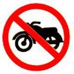 ป้ายจราจรห้ามรถจักรยานยนต์