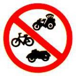 ป้ายห้ามรถจักรยาน รถสามล้อ รถจักรยานยนต์